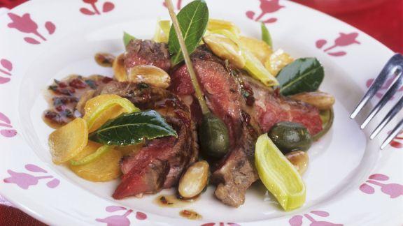 Rezept: Roastbeef mit Kapern und Mandeln