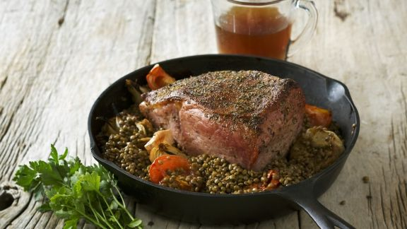 Rezept: Roastbeef mit Linsen