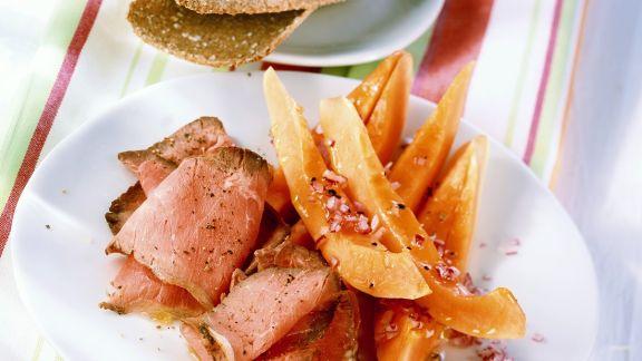 Rezept: Roastbeef mit Papaysalat