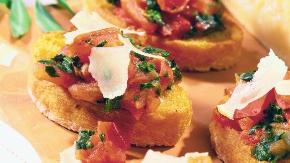 Rezept: Röstbrot mit Tomatenconfit