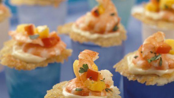 Rezept: Rösti-Häppchen mit Shrimps