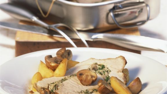 Rezept: Rollbraten mit Champignon-Füllung
