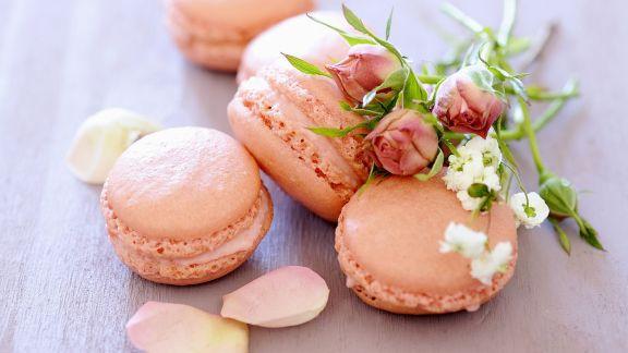 Rezept: Rosen-Macarons