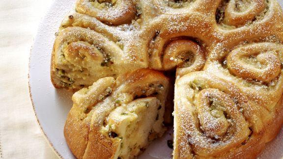 Rezept: Rosenkuchen mit Apfel und Ingwer
