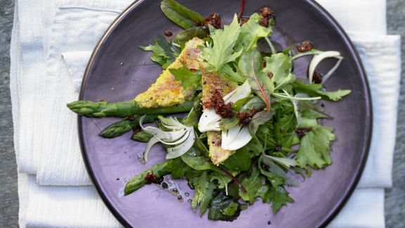 Rezept: Rotbarbe auf Salate-Mix