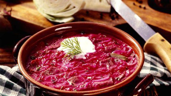 Rezept: Rote-Bete-Suppe nach schlesischer Art