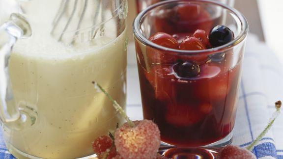 Rezept: Rote Grütze mit Vanillesoße