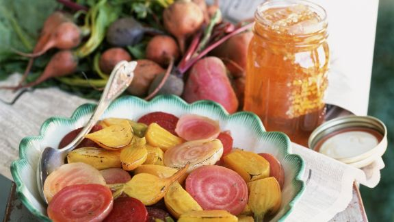 Rezept: Rote und gelbe Beten in Honigmarinade