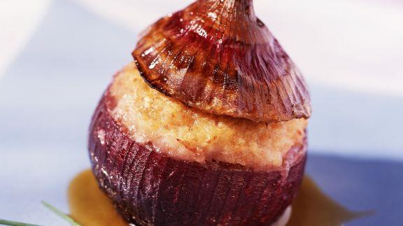 Rezept: Rote Zwiebel mit Füllung