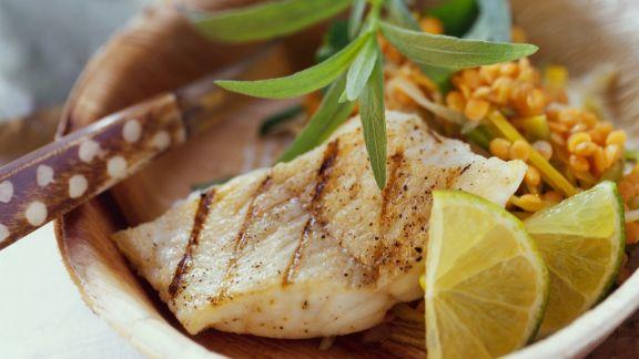 Rezept: Rotes-Linsen-Gemüse mit gegrilltem Catfish