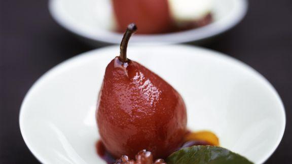 Rezept: Rotweinbirne