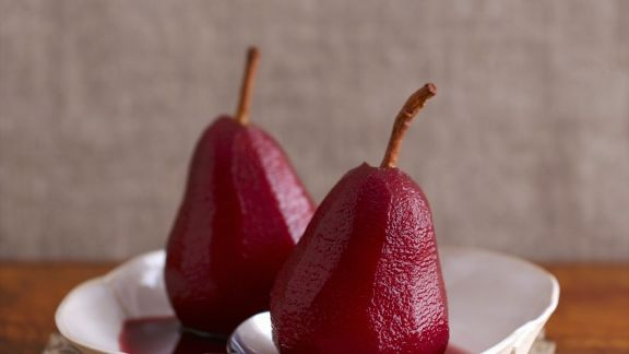 Rezept: Rotweinbirnen