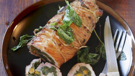 Rezept: Roulade vom Kalb mit Spinat gefüllt