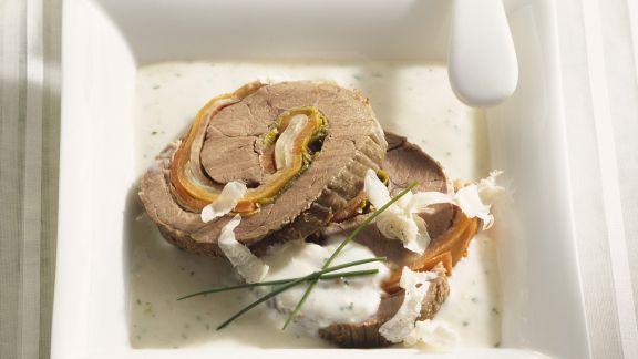 Rezept: Roulade vom Rind mit Meerrettichsoße