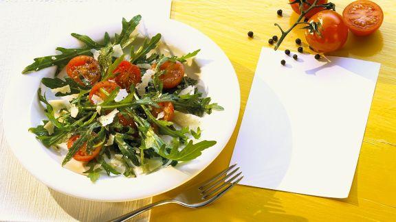 Rezept: Rucola-Tomatensalat