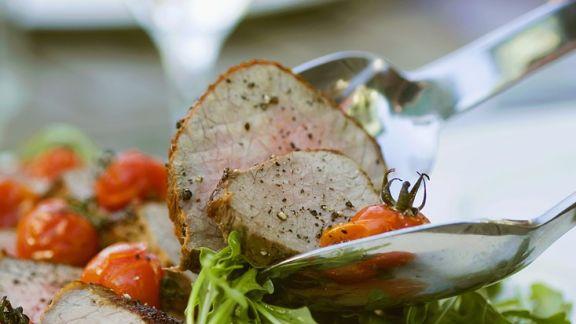 Rezept: Rucolasalat mit Roastbeef