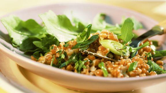 Rezept: Rucolasalat mit Weizen