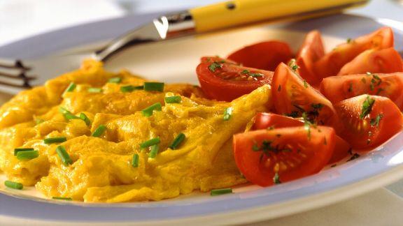Rezept: Rührei mit Tomaten