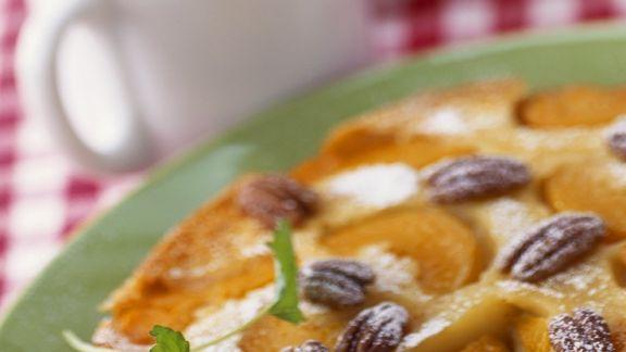 Rezept: Rührkuchen mit Pfirsichen