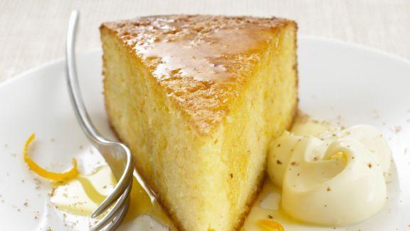 Rezept: Rührkuchen mit Zitrussoße