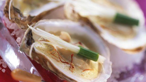 Rezept: Safran-Austern mit Lauch