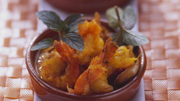 Rezept: Safrangarnelen mit Tomatensauce
