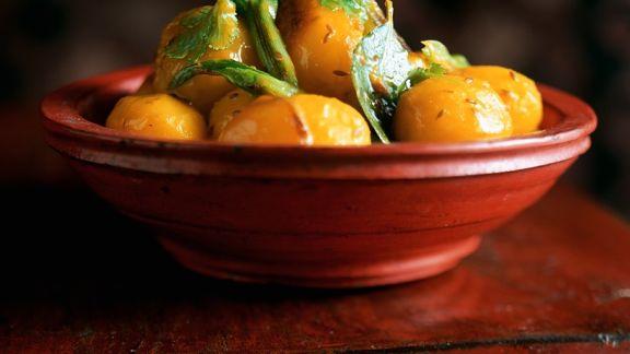 Rezept: Safrankartoffeln