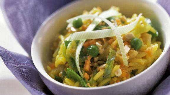 Rezept: Safranreis mit Gemüse
