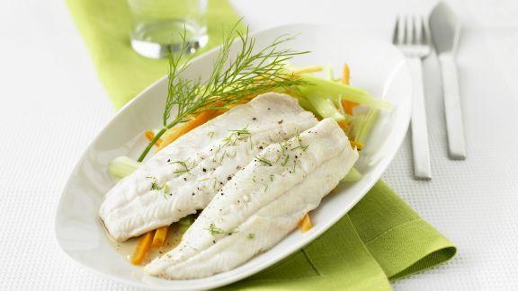 Rezept: Saibling mit Gemüse