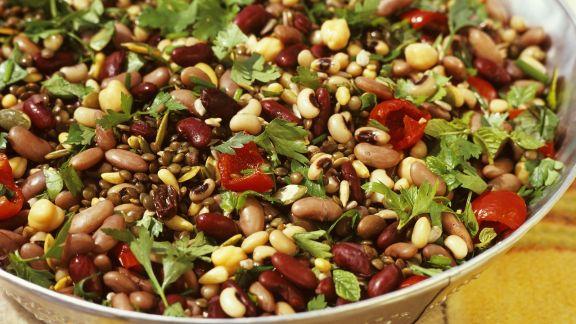Rezept: Salat aus fünf Sorten Bohnen