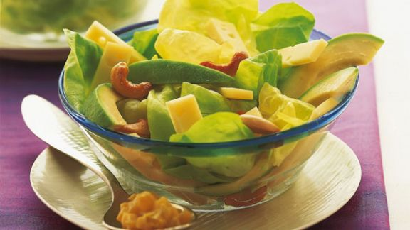 Rezept: Salat mit Bergkäse