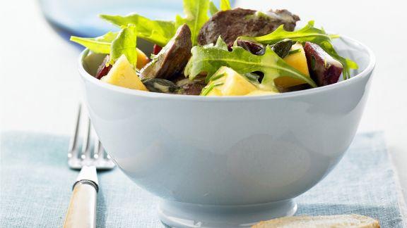 Rezept: Salat mit Ente und Honig-Orangen-Vinaigrette