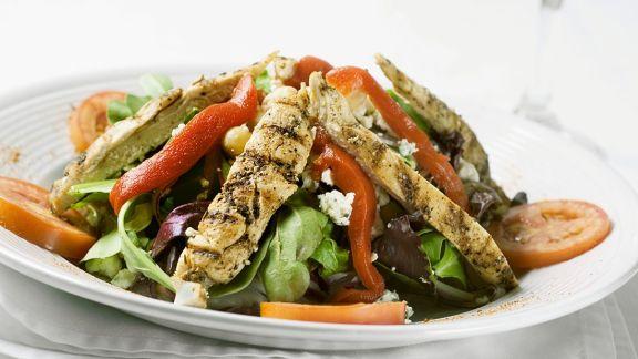 Rezept: Salat mit gebratener Hähnchenbrust