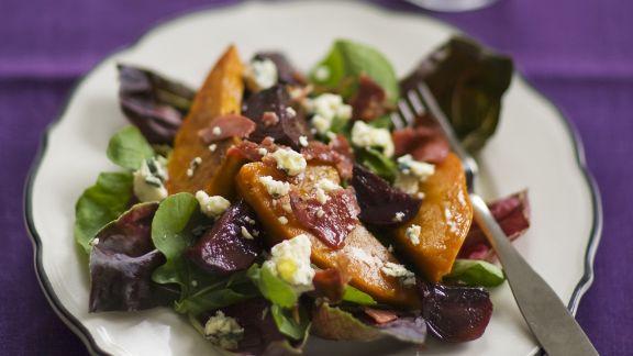 Rezept: Salat mit Kürbis, Roter Bete und Schafkäse