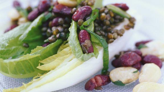 Rezept: Salat mit Linsen und Bohnen