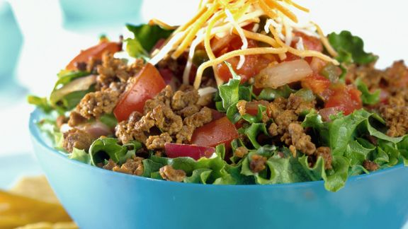 Rezept: Salat mit Tacos auf mexikanische Art