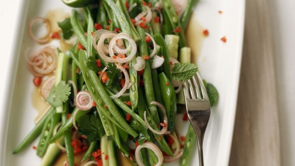 Rezept: Salat von grünen Bohnen im Asia-Stil