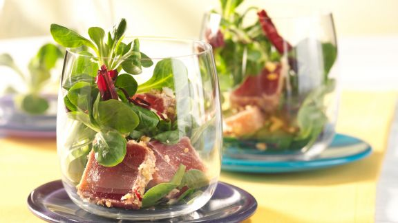 Kochbuch für Salat im Glas-Rezepte