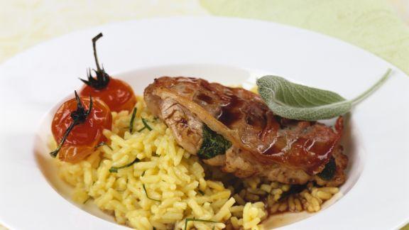 Rezept: Saltimbocca mit Reis