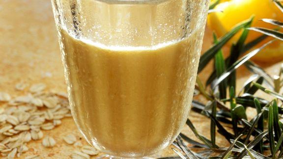 Rezept: Sanddorn-Orangen Getränk mit Haferflocken