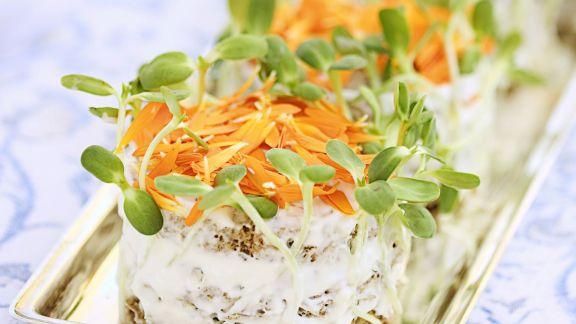 Rezept: Sandwich-Canapes mit Ringelblumen