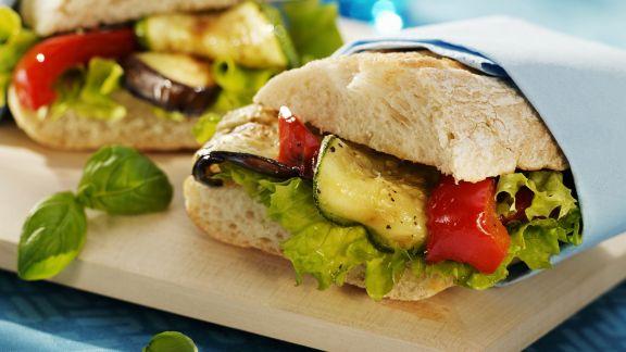 Rezept: Sandwich mit gegrilltem Gemüse