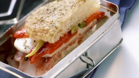 Rezept: Sandwich mit Paprika und Käse
