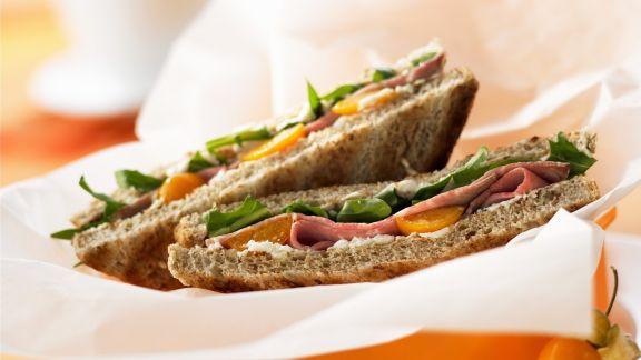 Rezept: Sandwich mit Roastbeef