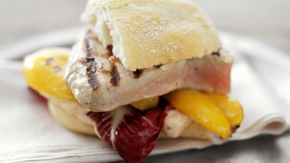 Rezept: Sandwich mit Thunfischsteak