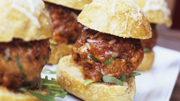 Rezept: Sandwiches mit Fleischbällchen