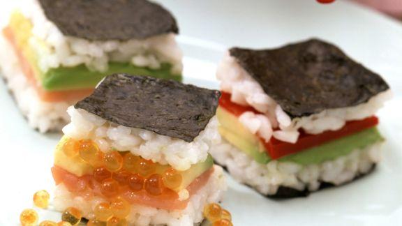 Rezept: Sandwichs im Sushi-Stil mit Sojasoße
