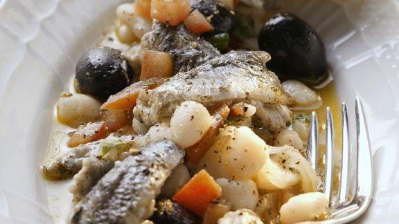 Rezept: Sardellensalat mit weißen Bohnen