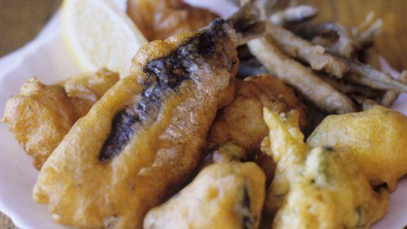Rezept: Sardinen und Zucchini im Backteig frittiert