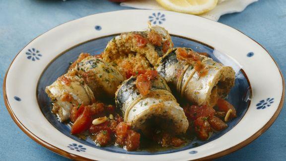 Rezept: Sardinenrouladen mit Tomatensugo
